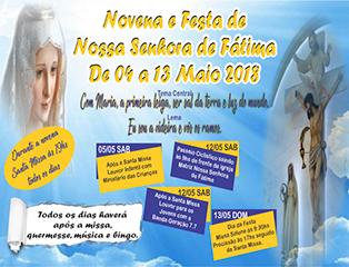 Paróquia Nossa Senhora de Fátima celebra padroeira