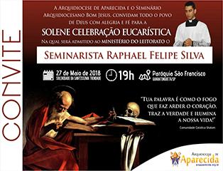 Seminarista Raphael recebe o Ministério do Leitorato
