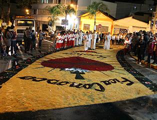 Paróquias de Aparecida celebram Corpus Christi 2018