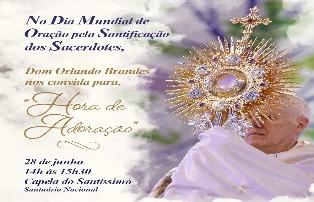 Arquidiocese reza pela santificação dos sacerdotes
