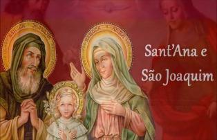 São Joaquim e Sant'Ana, os pais de Maria, a mãe de Jesus