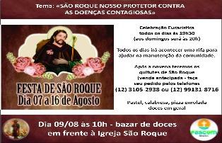 Paróquia de São Roque celebra padroeiro